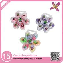 hair accessories for little girls on flower shape plastic box