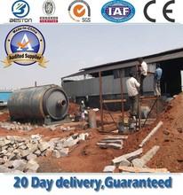 WJ-8 waste tire recycling rubber powder machine,recycling waste tire and produce gasoline,china pyrolysis plant