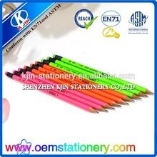 pencils with eraser/beautiful pencil/fluorescence body pencils
