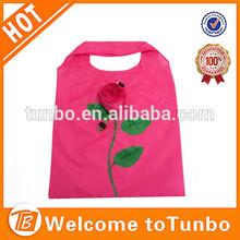 Wholesale folding flower shopping bag rose shopping bag