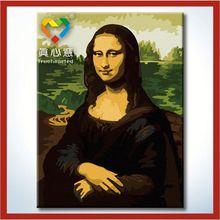 Mona Lisa portrait painting vineyard landscape oil painting