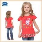 (H4463) 2-6Y Summer nova peppe pig dress factory wholesale embroidery kids girl frock