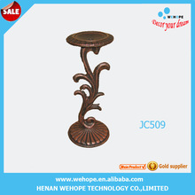 Hot selling metal art wrought iron flower base candle holder