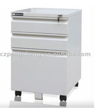 Stainless steel file office cabinet with three drawers metal furniture