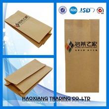Heat Seal Sealing & Handle and Promotion Industrial Use Kraft Paper Coffee Packaging Bags