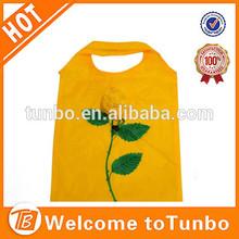 Promotion rose flower folding shopping bag