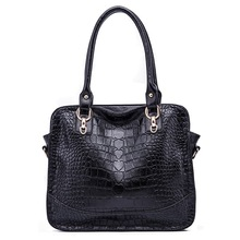 CHINA Guangzhou wholesale Fashionable western alligator grain leather handbags totes for women