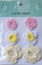 Pink, White and Beige Crochet Flower Assortment for DIY Scrapbook