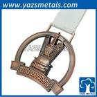 Custom most high quality complex sports medallion gold silver bronze marathon medals