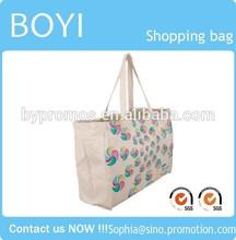 Wholesale reusable trendy promotional cotton shopping bag,canvas bag