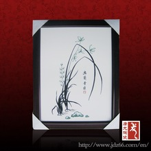 Delicate design good quality ceramic handpainted picture of painting made in Jingdezhen