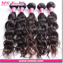 Top grade virgin remy Natura wave Soft smooth malaysian hair durable more than one year extension