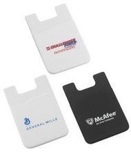 promotional marketing products silicone card holder adhesive