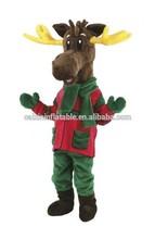 christmas reindeer mascot costume / fur mascot costume /plush costume