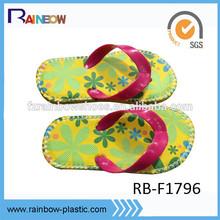 new design rubber stitched sole slipper kids