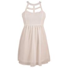 2014Simple design girls plain party dress2404