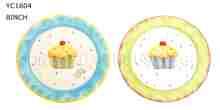 Spring ceramic salad plate for Children 8,9,10inch