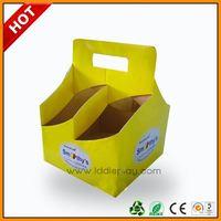 custom printed cardboard coffee cup drink carriers ,custom paper wine gift box ,custom handle wine box for sale