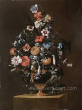 canavs art antique flower oil painting on canvas for home decoration