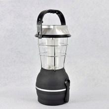 black hand cranked rechargeable solar led lantern