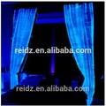 china nuevo producto led proveedor baratos cortina de la viuda de blanco de terciopelo rosa retardante de llama de fibra opitc luz de la cortina de lujo