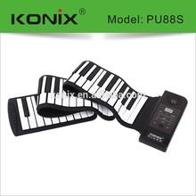 88 Keys Silicon Roll Up Standard Stereo MIDI Flexible Piano 128 Tone 100 Rhythm