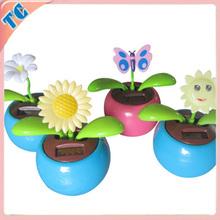 Newest decoration flip flap solar flower solar dancing flower
