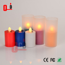 Yellow flickering flameless electric candle
