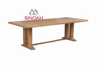 Wood dining room furniture solid oak 2.5m Monastery table fixed top(EL25T)