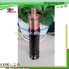 New arrival high quality copper onyx mechanical mod 1:1 clone copper 26650 king kong mod onyx mod clone