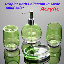 Bath ensemble Acrylic Sponge bob set 100% Transparent and Clear