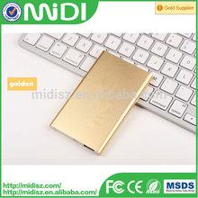 Slim for xiaomi power bank 5000mah, portable usb charger