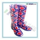 colorful Women rubber rain boots