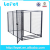 2014 new welded wire mesh distressed wood foldable dog crate