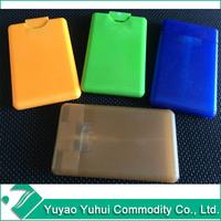 plastic perfume card in refill style,easy taking perfume bottle,name card perfume atomiser