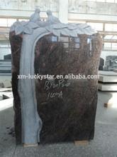 German Style Tree With Bird Carving Himalaya Blue Headstone