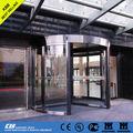 Caliente la venta de puerta giratoria, Vidrio de seguridad, Marco de aluminio, Ce ISO9001 certificado UL