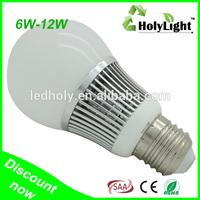 Holy Lighting 6w e27 high quality factory price led bulb