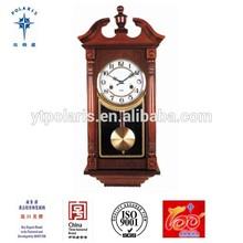 China Yantai Solid Wood Antique Wall Clock