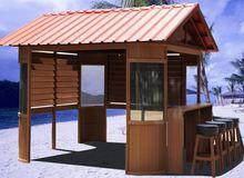 deluxe Outdoor PVC wood trellis arbor PVC wood rome gazebo