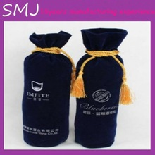Hot sales new design velvet wine bags with high quality