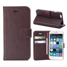 tbr7135c brown cheap flip mobile phone case for apple iphone6 case, leather case for iphone 6
