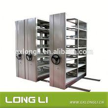 Bespoke Compact Metal Mobile shelving/ steel movable storage shelf