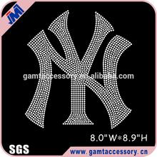 Mlb baseball yankee strass de transfert de correctifs motif pour chemise