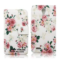 accpet OEM Colorful PU Leather Wallet Type Magnet Design Flip Case for lenovo S650