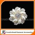 الصين الجملة 40mm تجميل بروش اللؤلؤ الفضة مطلي حجر الراين لفساتين الزفاف