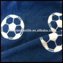 dark blue football printed polar fleece for blanket