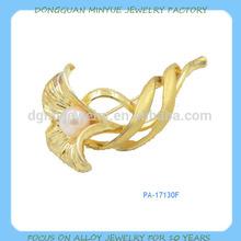 factory make fashion gold flower brooch