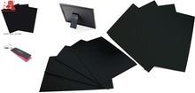 Embossed black cardboard paper /paperboard/paper board/black paper card in roll