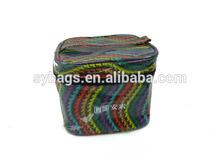 ladies fashion travel toilet bag / colorful handle cosmetic bag for women / new design travel toilet bag